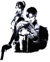 leon and claire by bboyhan