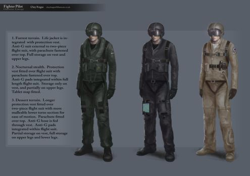 Character Design: Fighter Pilot by Chey-the-Illustrata