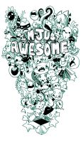 T Shirt: Awesome by tee-Drode