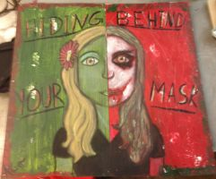 Hiding Behind Your mask: a self portrait by JediSkygirl