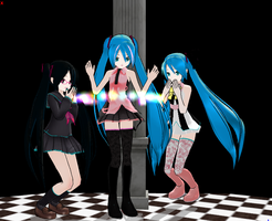 3Models Pack DL + LAT Miku by kidanyan