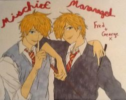 fred x george (harry potter) by Flylikeadcriss18