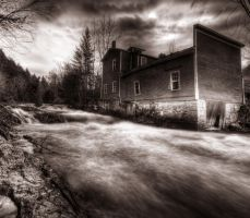 Abandoned by the River by IraMustyPhotography