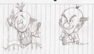 Some King Candy sketches by abrilmazziotti