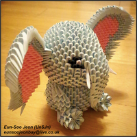 3D Modular Origami Elephant Side View by UNSJN
