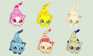 Fluffy KITTENS adoptables -CLOSED- by RKOadoptables