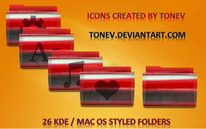 Red and blue KDE MacOS folders by tonev