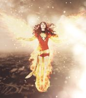 Flying Dark Phoenix by HesokaAngel