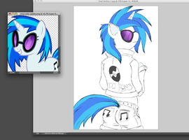 Vinyl Scratch Anthro Ver. 1.0 by BiOHazardHill