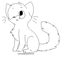 Ms paint Chibi Cat lineart by Mitzi-Mutt