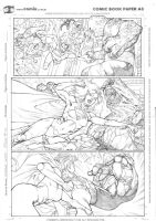 Supergirl page sample by robsonrocha