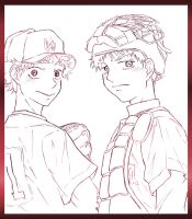 Big Windup: Mihashi and Abe by MoPotter