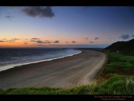 After Glow over Rhosilli Bay 2 by GMCPhotographics