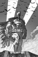 The Dark Knight Sketch by RyanBodenheim