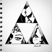 Holders of the Triforce by GiantEvilPizza