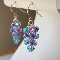 Aqua and Violet Earrings by lulabug