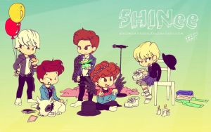 5HINee years by Pulimcartoon