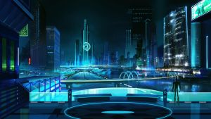 Sci-fi City by mrainbowwj