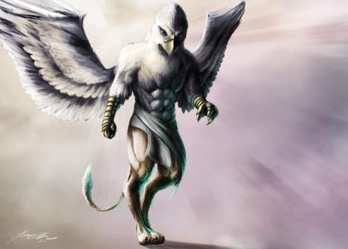 Godly gryphon by yacrical