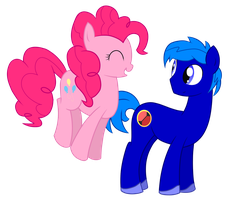 Commission: Rob and Pinkie by StaticWave12