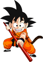 Kid Goku colored by Ninja-pineapple