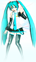 MMD DT Miku by Hitomi-Kin