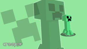 Minecraft Creeper Wallpaper by ilhaJaoT