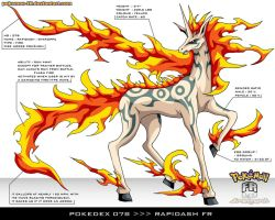 Pokedex 078 - Rapidash FR by Pokemon-FR
