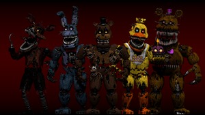 All of the FNAF 4 Gang by AndyDatRaginPyro