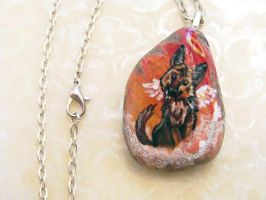 German Shepherd Pendant Necklace 2 / Sold by sobeyondthis