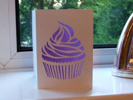 Cupcake Card by ladysilver2267