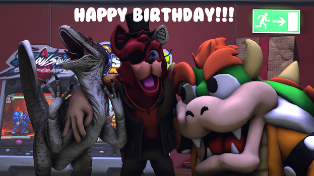Happy Birthday Tem and ItsameWario by TheImperfectAnimator