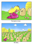 Princess Peach weeps for the fallen by Bollebib