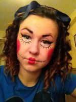 Halloween make up trial- Dead Rag Doll by luhluhbuh