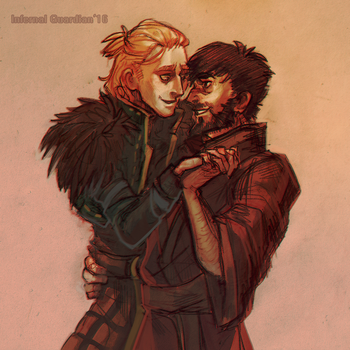 Hawke and Anders by InfernalGuard