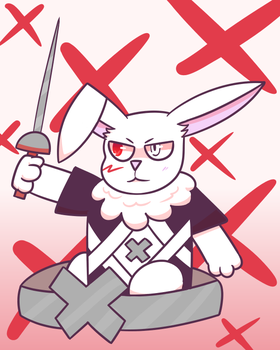 It's Xcellence except he's a bunny by I-Cant-Do-Art-Sorry