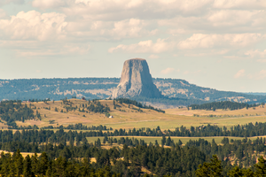 Devils Tower from a distance by sequential