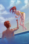 Poolside Romance by gwendybee
