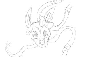Sylveon Sketch by vaultszaoldyeck99