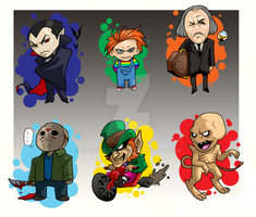 Horror Movie Chibis by JosephLawn
