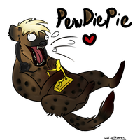 .:Fan Art:. PEWDIEPIE BEST Hyena :DD by WolfSoulKeeper