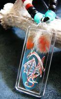 Feather Painting Necklace 45 by dittin03