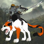 Orc Max and Warg Nala by MetalWolfGemstone