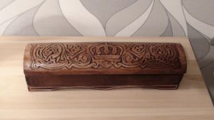 carved wooden crown box by EdwardWoodART
