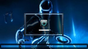 Tron Legacy logon screen + user images al in 7 by poweredbyostx