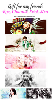 [PSD + Xmas Gift] For Byz, Channie, Eriol and Ken by YeRimoonlight