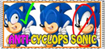 anti-cyclops sonic stamp by applebeans