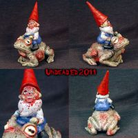 Zombie Gnome riding on a toad by Undead-Art