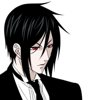 Black Butler Sebastian by AssamiteGirl