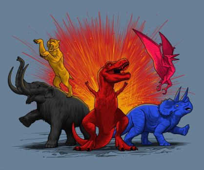 Extinct rangers by MIKELopez